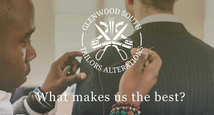 screenshot from a video about Glenwood South Tailoring and Alterations company services